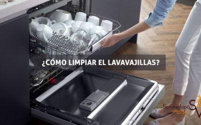 ¿Cómo limpiar el lavavajillas?